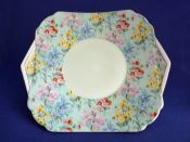 Shelley Bone China 'Melody' Chintz Vogue Cake Plate c1940